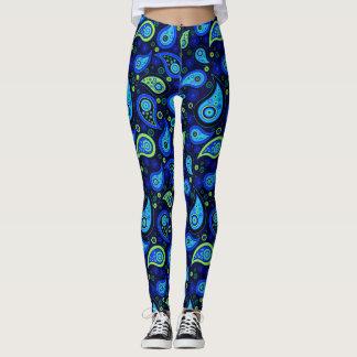 Pantalones elegantes azulverdes de la yoga del