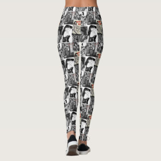 pantalones retros del chica de poster leggings