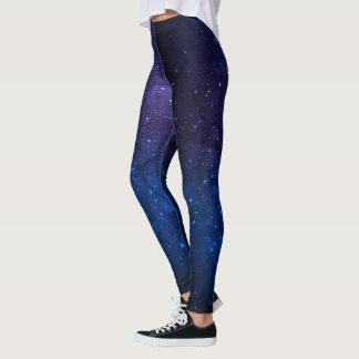 Pantalones sombreados azul cósmico de la conexión