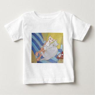 Pantera del Frenchy w/pink Camiseta De Bebé