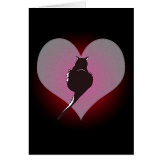 Pantera del gato negro mi tarjeta del corazón