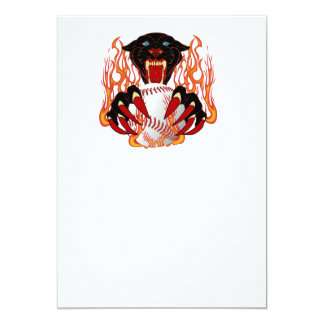 Panther-Baseball-1White-T-2 Invitación 12,7 X 17,8 Cm
