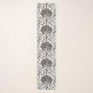 Pañuelo Árbol de William Morris del modelo, del negro y