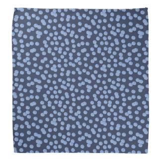 Pañuelo azul de los lunares bandanas