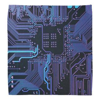 Pañuelo azul fresco de la placa de circuito del