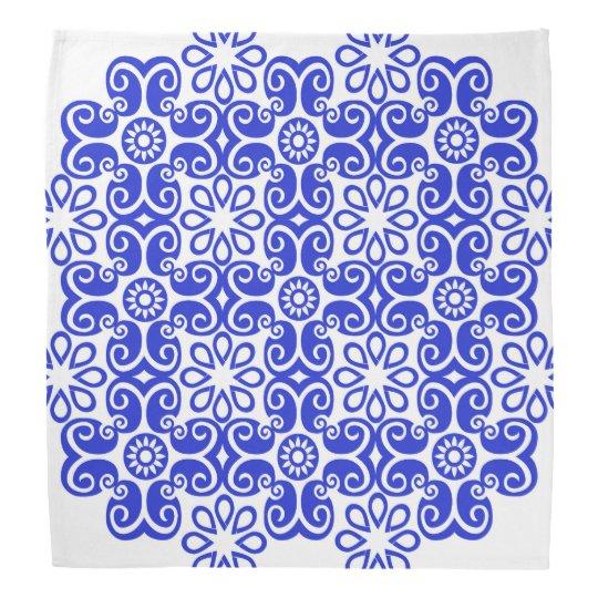 Pañuelo azul rizado del diseño bandanas