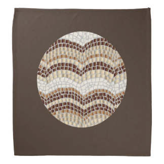 Pañuelo beige redondo del mosaico