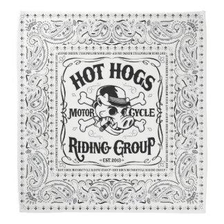 Pañuelo blanco clásico caliente de Hogs™ Bandanas