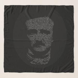 Pañuelo Blanco negro el poema Edgar Allan Poe del cuervo
