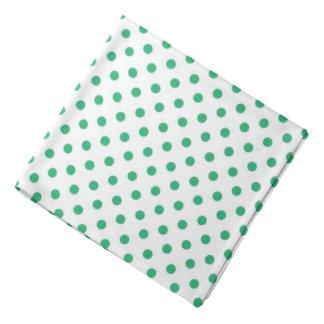 Pañuelo blanco verde del modelo de lunar bandanas