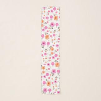 Pañuelo Color en colores pastel del estampado de flores