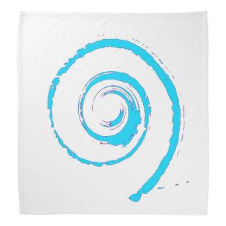 Pañuelo con giro azul bandanas