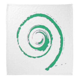 Pañuelo con giro verde grande bandana