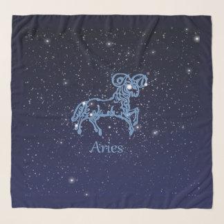 Pañuelo Constelación del aries y muestra del zodiaco con