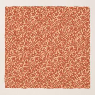 Pañuelo Damasco del cardo de William Morris, mandarina