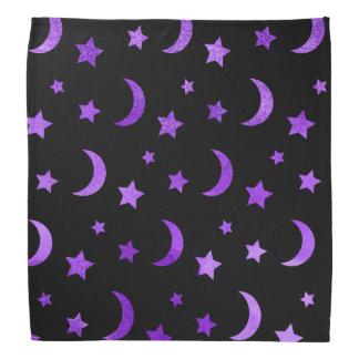 Pañuelo de Halloween de la luna y de las estrellas
