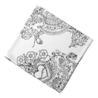 Pañuelo del árbol de los cráneos de los Doodles Bandana