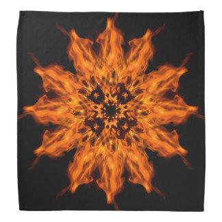 Pañuelo del arte del fuego de la mandala de la