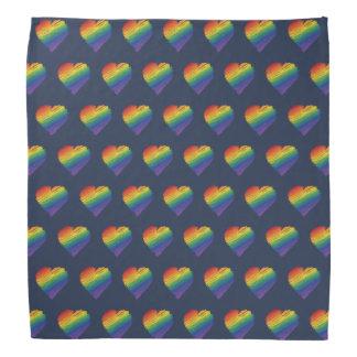 Pañuelo del corazón del garabato del arco iris