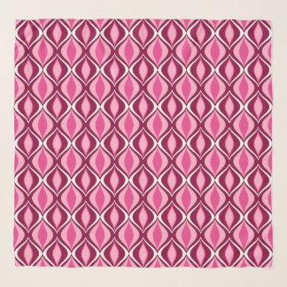 Pañuelo Diamantes, Borgoña y rosa modernos de los mediados