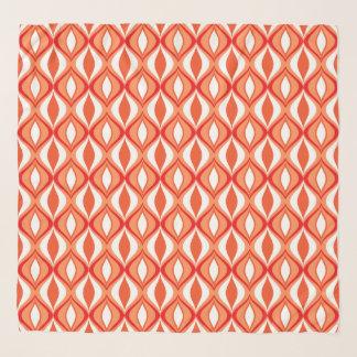 Pañuelo Diamantes, naranja y blanco modernos de los