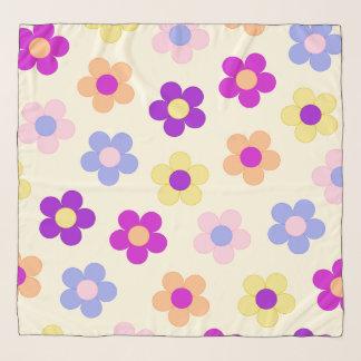 Pañuelo Diseño del flower power - fondo amarillo