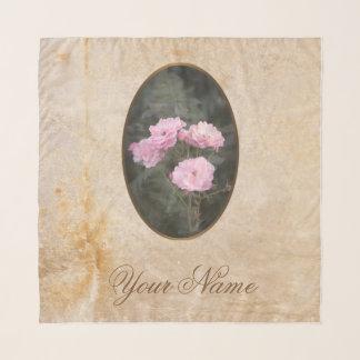 Pañuelo Diseño del vintage. Foto de rosas rosados. Añada