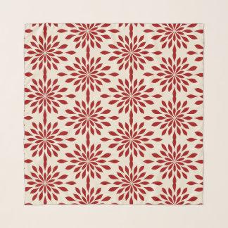 Pañuelo Diseño geométrico elegante, rojo en la gasa poner