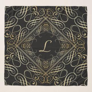 Pañuelo Escritura elegante de Scrollwork de la mirada del