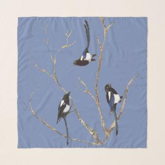 Pañuelo Familia de pájaro del jardín de la urraca de la