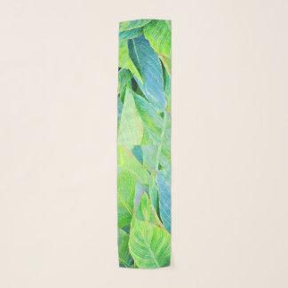 Pañuelo Follaje de la selva del verdor de la acuarela