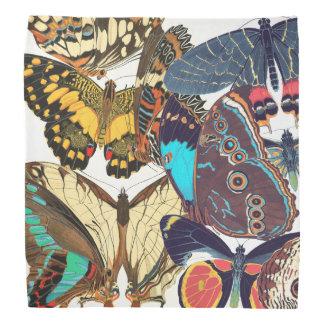 Pañuelo francés de Papillon de las mariposas de Bandana