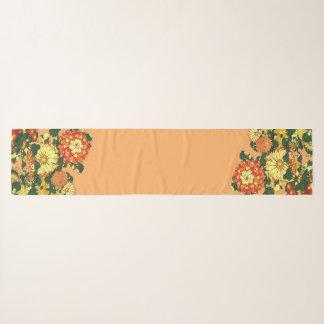 Pañuelo Frontera de la flor, mandarina y oro japoneses