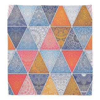 Pañuelo geométrico abstracto elegante del |