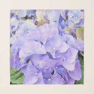 Pañuelo Hydrangea púrpura y violeta de la acuarela
