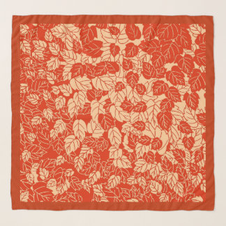 Pañuelo Impresión japonesa de la hoja, mandarina