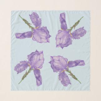 Pañuelo Iris barbudos púrpuras hermosos