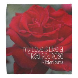 Pañuelo mi rosa rojo del amor