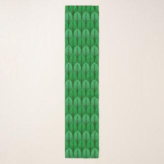 Pañuelo Modelo de la pluma del art déco, verde esmeralda