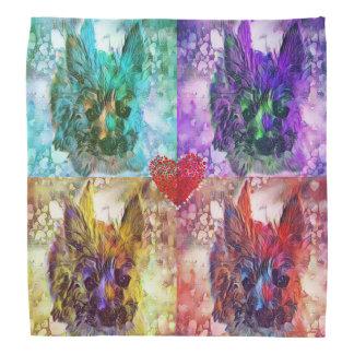 Pañuelo multicolor del amor adolescente de los