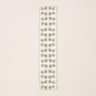 Pañuelo Narcisos blancos en blanco