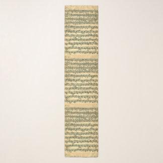 Pañuelo Páginas del manuscrito de la música de Bach