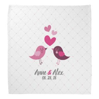 Pañuelo personalizado del aniversario de boda de