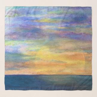 Pañuelo Puesta del sol en el horizonte