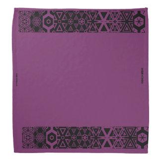 Pañuelo púrpura del diseño bandanas