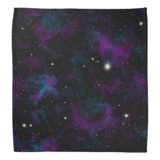 Pañuelo púrpura y azul de la galaxia