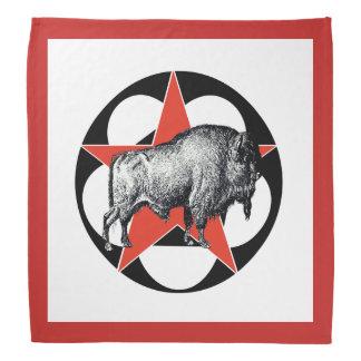 Pañuelo que acampa del búfalo rojo de la estrella bandanas