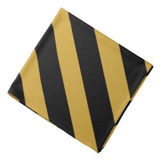 Pañuelo rayado clásico de Dialgonal del negro y