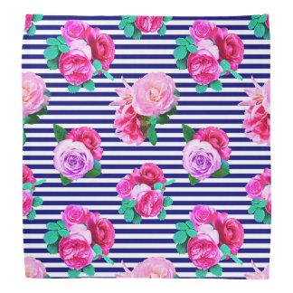 Pañuelo rayado del marinero floral