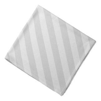 Pañuelo rayado gris en colores pastel